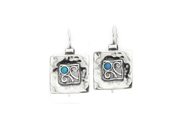 Elran Aviv Earrings With Filigree Design