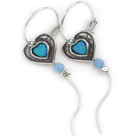 Elran Aviv Earrings With Dangly Chain