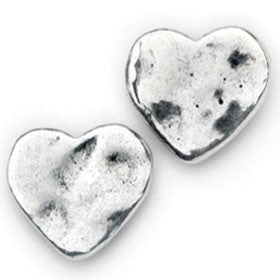 Elran Aviv Earrings Hammered Silver Finish