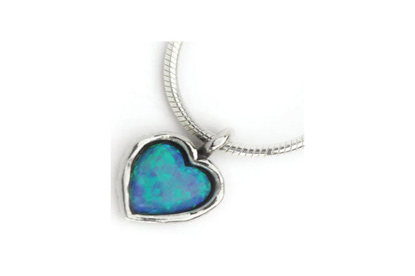 Elran Silver & Opal Necklace Asn185
