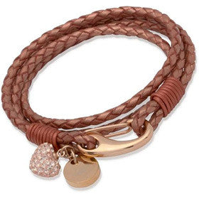 Unique Copper Leather Bracelet B156Co