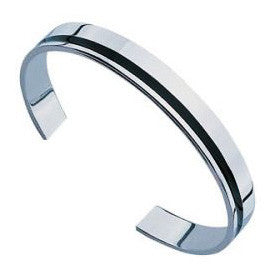 Fred Bennett Sterling Silver And Black Resin Bangle