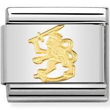 Nomination Classic Gold Rampant Lion Charm