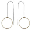 CME Two-Tone Circle Pull-Through Earrings