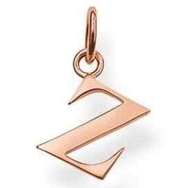 SALE Thomas Sabo Sterling Silver Rose Gold Plated Letter Z Pendant