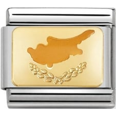 Nomination Classic Cyprus Flag Charm