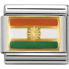 Nomination Classic India Flag Charm