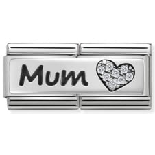 Nomination Classic Mum & Heart Double Charm
