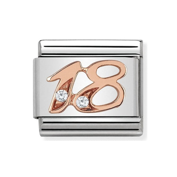Nomination Classic Rose Gold & CZ 18 Charm