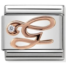 Nomination Classic Rose Gold & CZ Letter G Charm