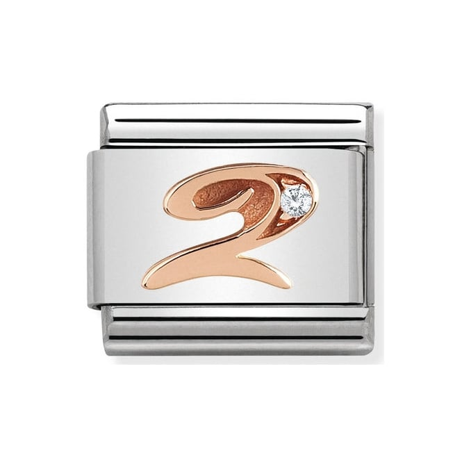 Nomination Classic Rose Gold & CZ Number 2 Charm