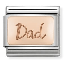 Nomination Classic Rose Gold Dad Plate Charm