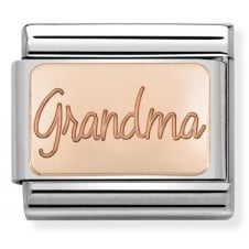Nomination Classic Rose Gold Grandma Plate Charm