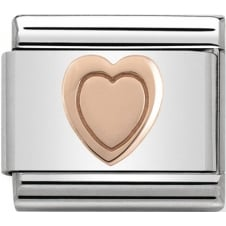 Nomination Classic Rose Gold Heart Charm