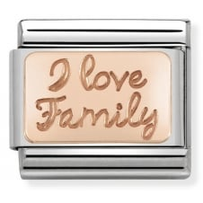 Nomination Classic Rose Gold I Love Family Plate Charm