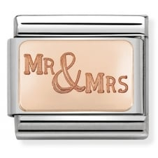 Nomination Classic Rose Gold Mr & Mrs Plate Charm