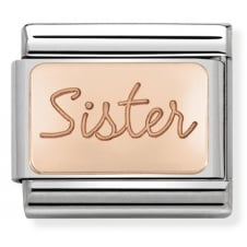Nomination Classic Rose Gold Sister Plate Charm