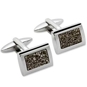 Unique Stainless Steel Cufflinks Qc-76
