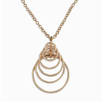 CME Rose Gold-Plated Small Concentric Diamond-Cut Circles