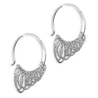 CME Layered Multi-circle hoop Italian Diamond Cut Earrings
