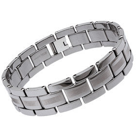 Unique Men'S Tungsten Bracelet Tub-1