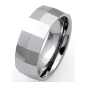 Unique Tungsten Carbide Matt-Polished Ring TUR-15