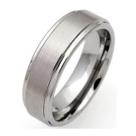 Unique Tungsten Carbide Matt-Polished Ring Tur-3