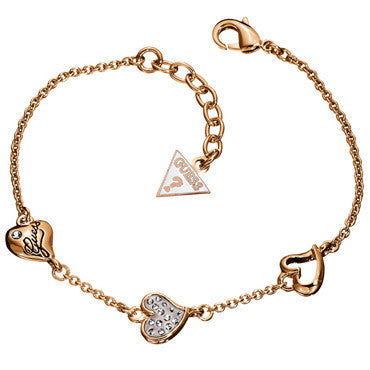 Guess Ladies Triple Heart Bracelet