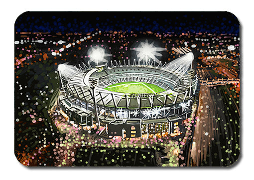 Postcard - Melbourne MCG by night