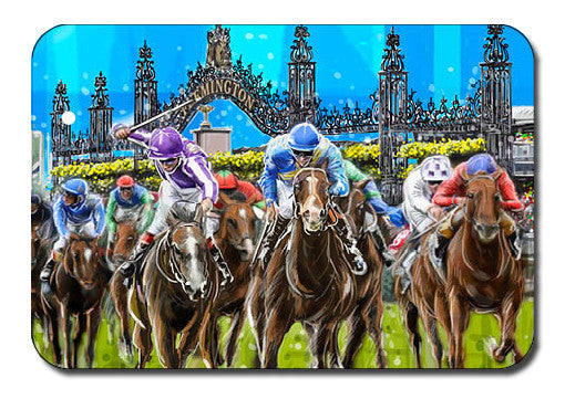 Postcard - Melbourne Flemington Races