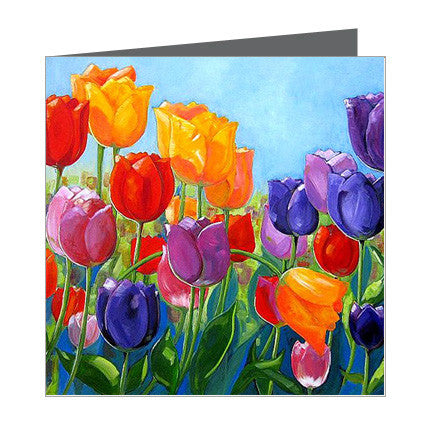 Card - Bassett Tulips Colourful
