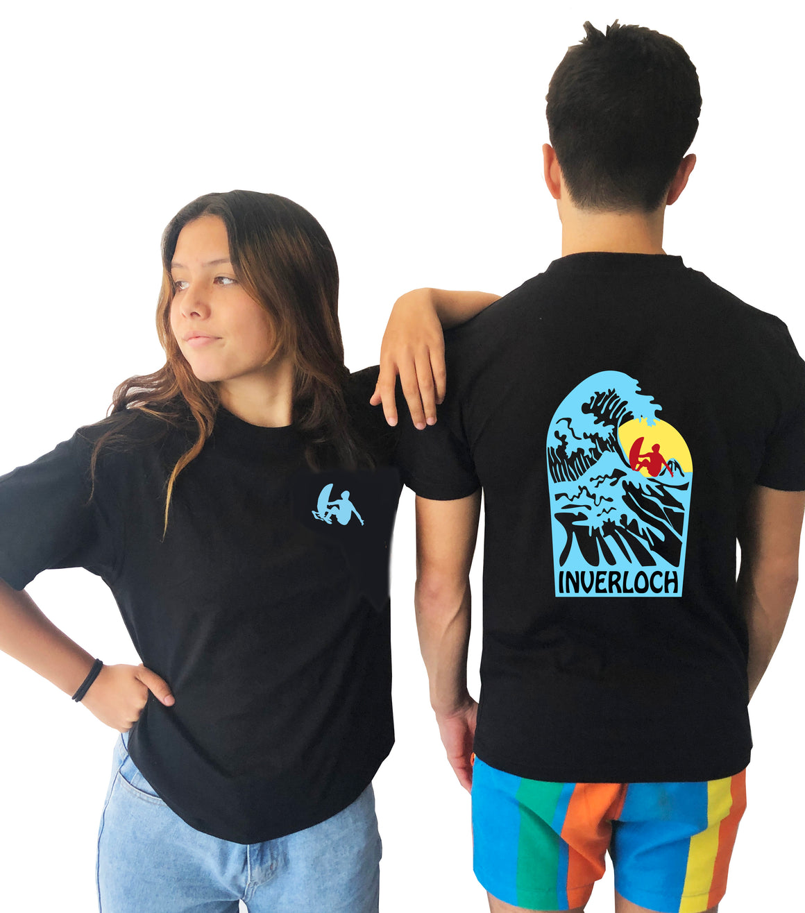 Tshirt - Beach with Surfer and Sunset - Customised