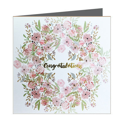 Card - Congratulations - Ring of Roses