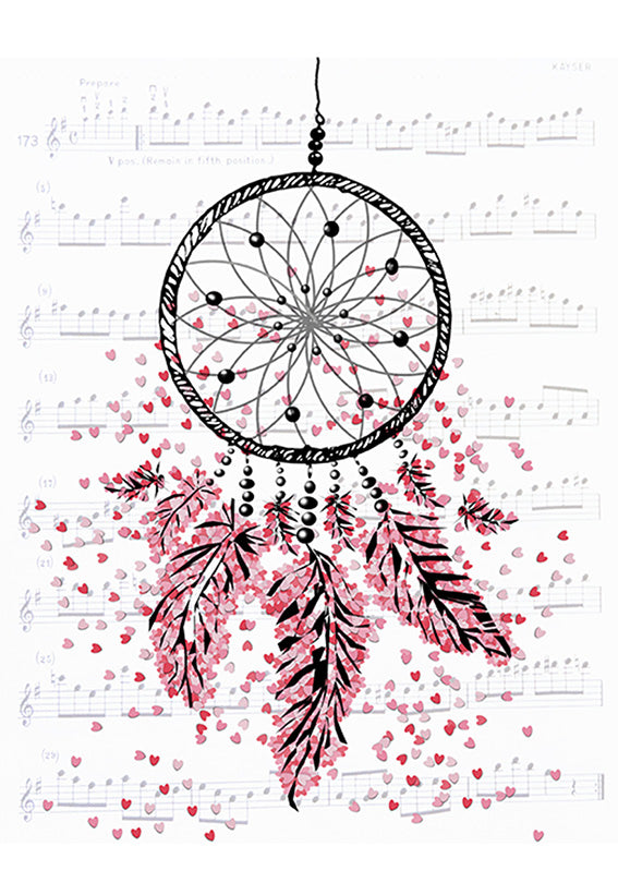 Print Heart Confetti Dream Catcher