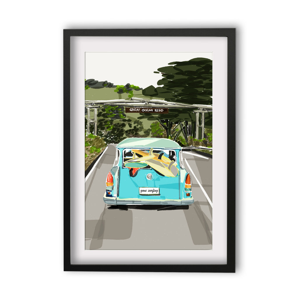 Print (Iconic) - Bellarine Great Ocean Road Portal with Wagon Portrait