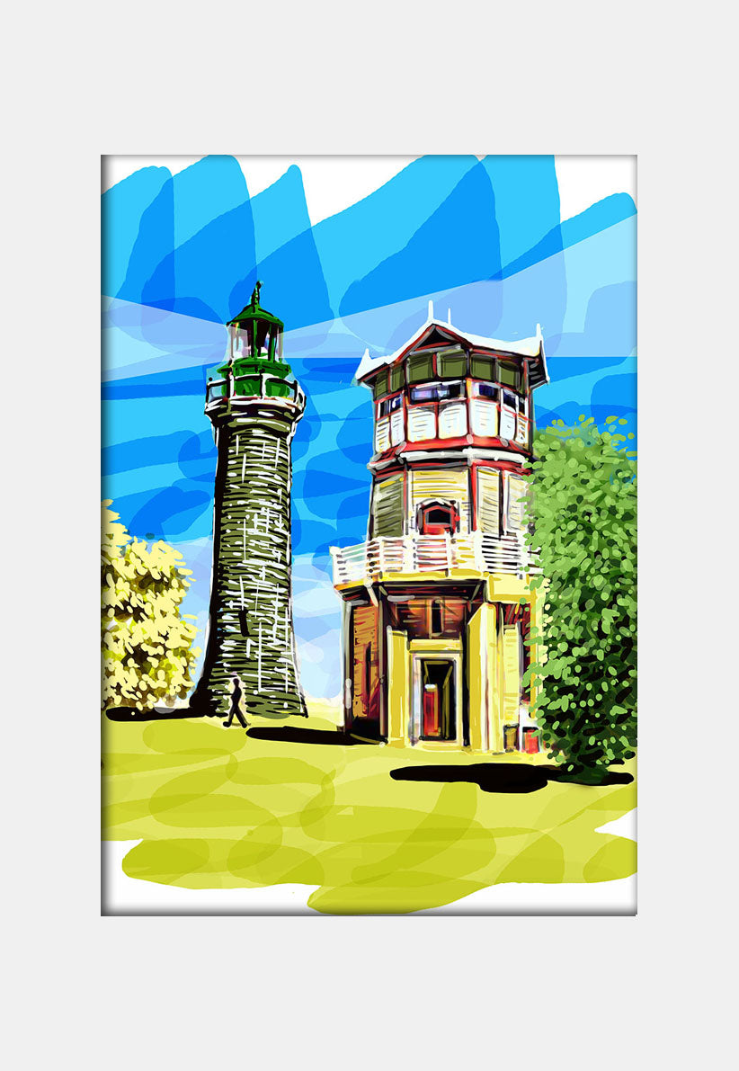 Print (Iconic) - Bellarine Queenscliff Black Lighthouse
