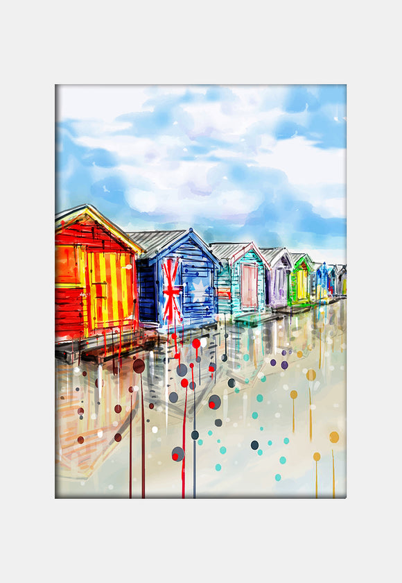 Print (Iconic) - Melbourne Brighton Beach Boxes (Portrait)