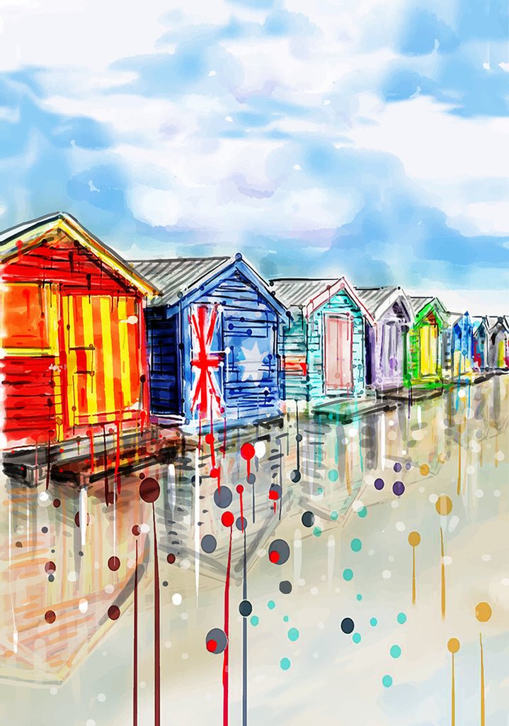 Print (Iconic) Melbourne Brighton Beach Boxes (Portrait)