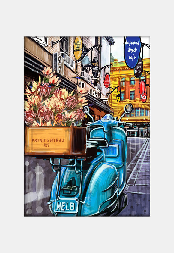 Print (Iconic) - Melbourne Degraves Street with Vespa