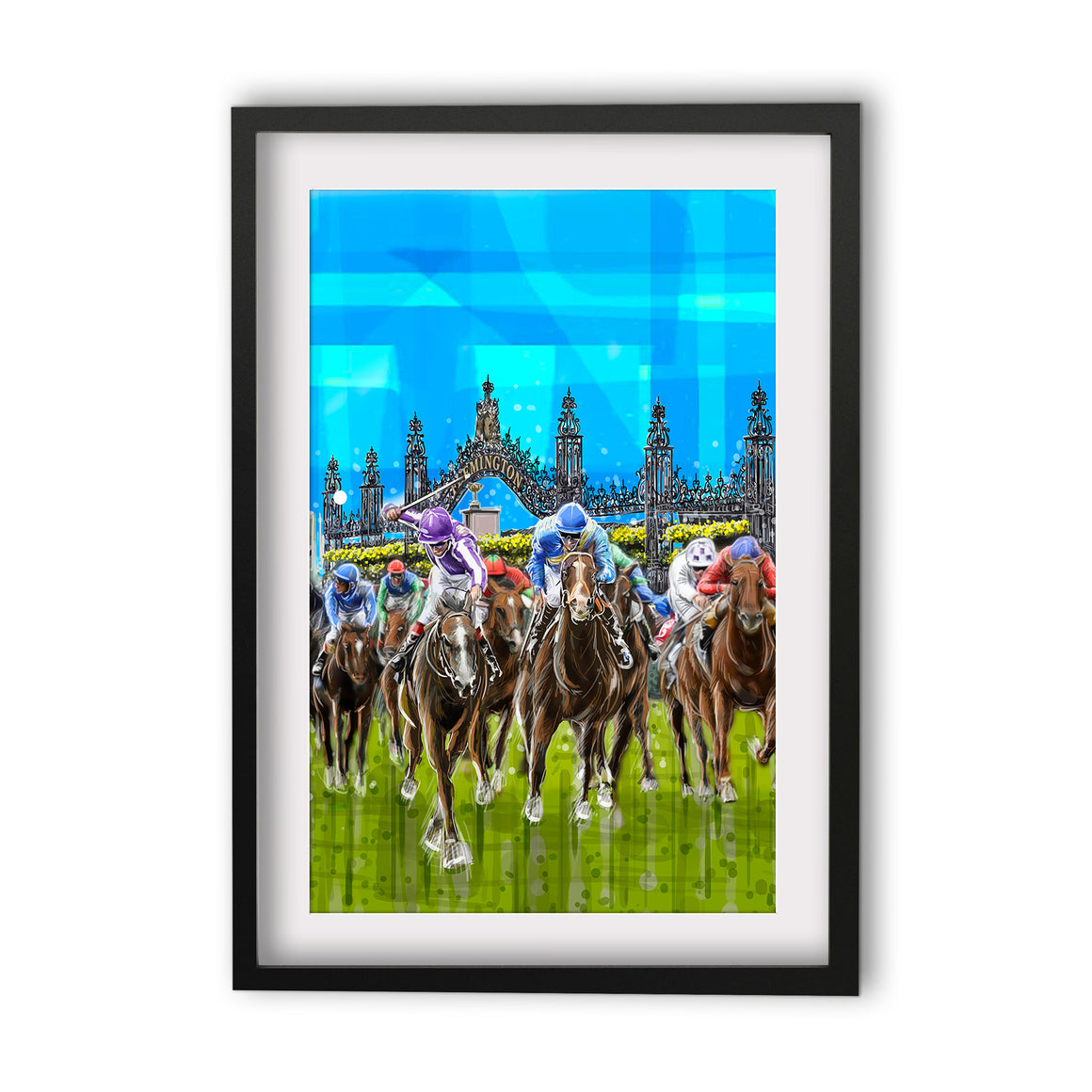Print (Iconic) - Melbourne Flemington Horse Race (Portrait)