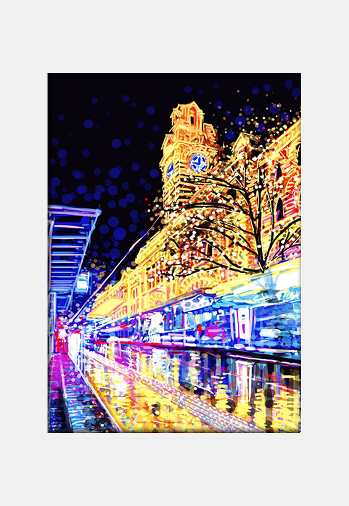 Print (Iconic) - Melbourne Flinders by Night