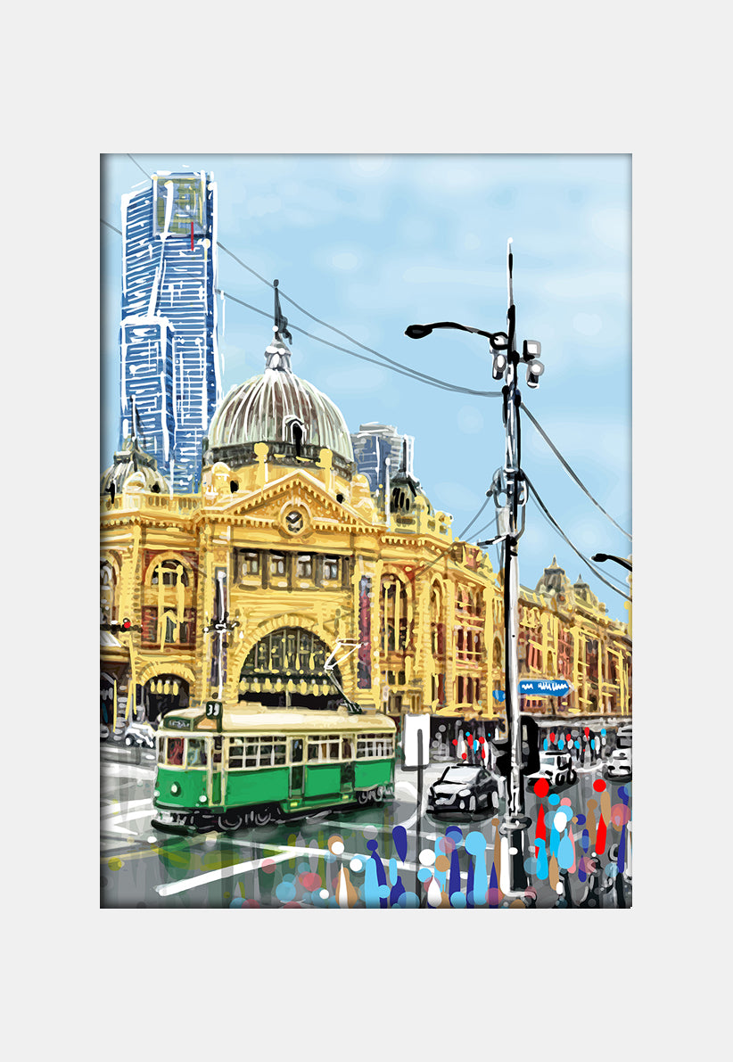 Print (Iconic) - Melbourne Flinders St Station (Portrait)