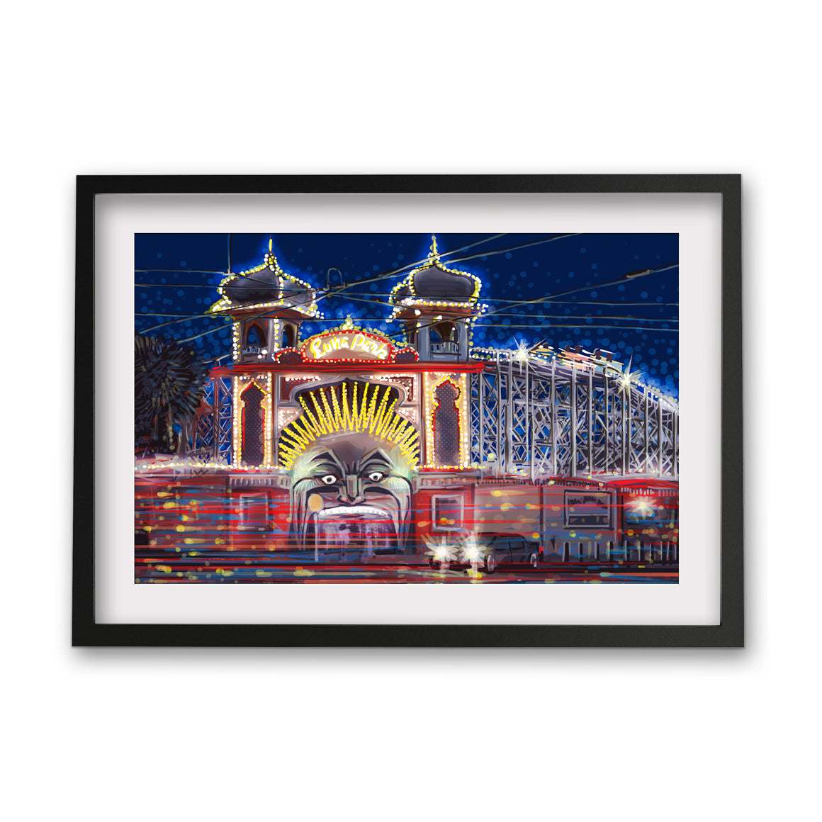Print (Iconic) - Melbourne Luna Park by Night