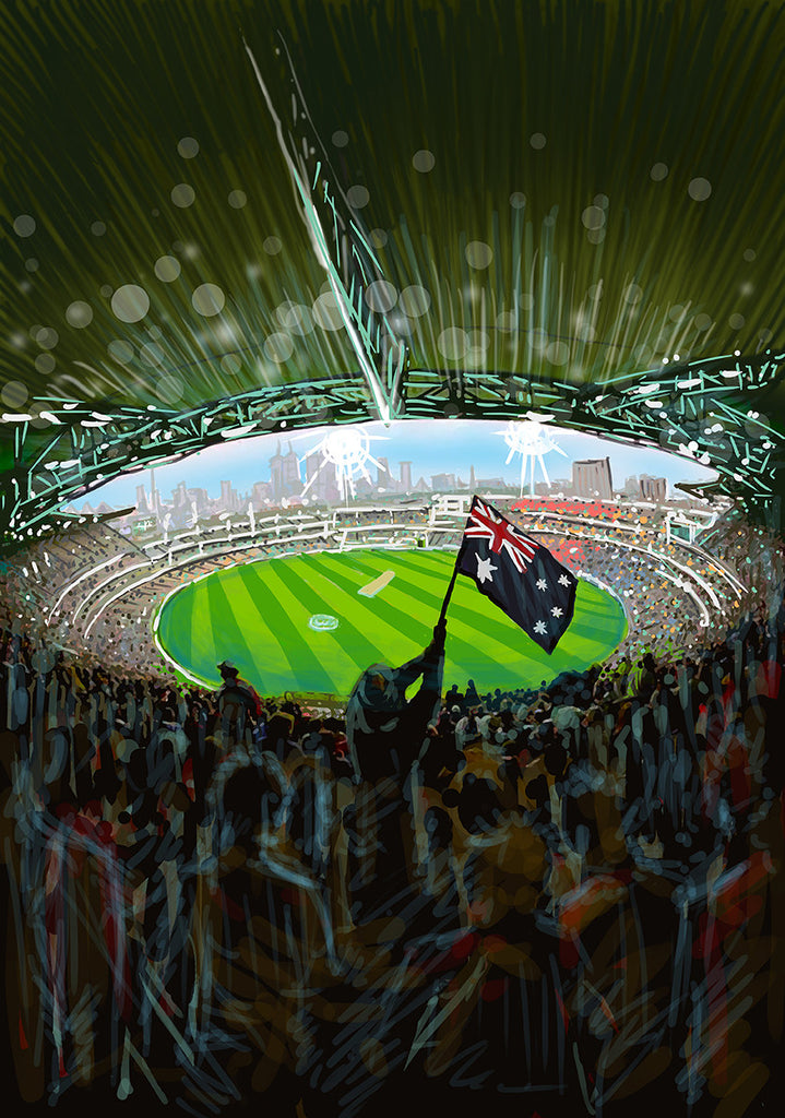 Print (Iconic) Melbourne MCG Internal View