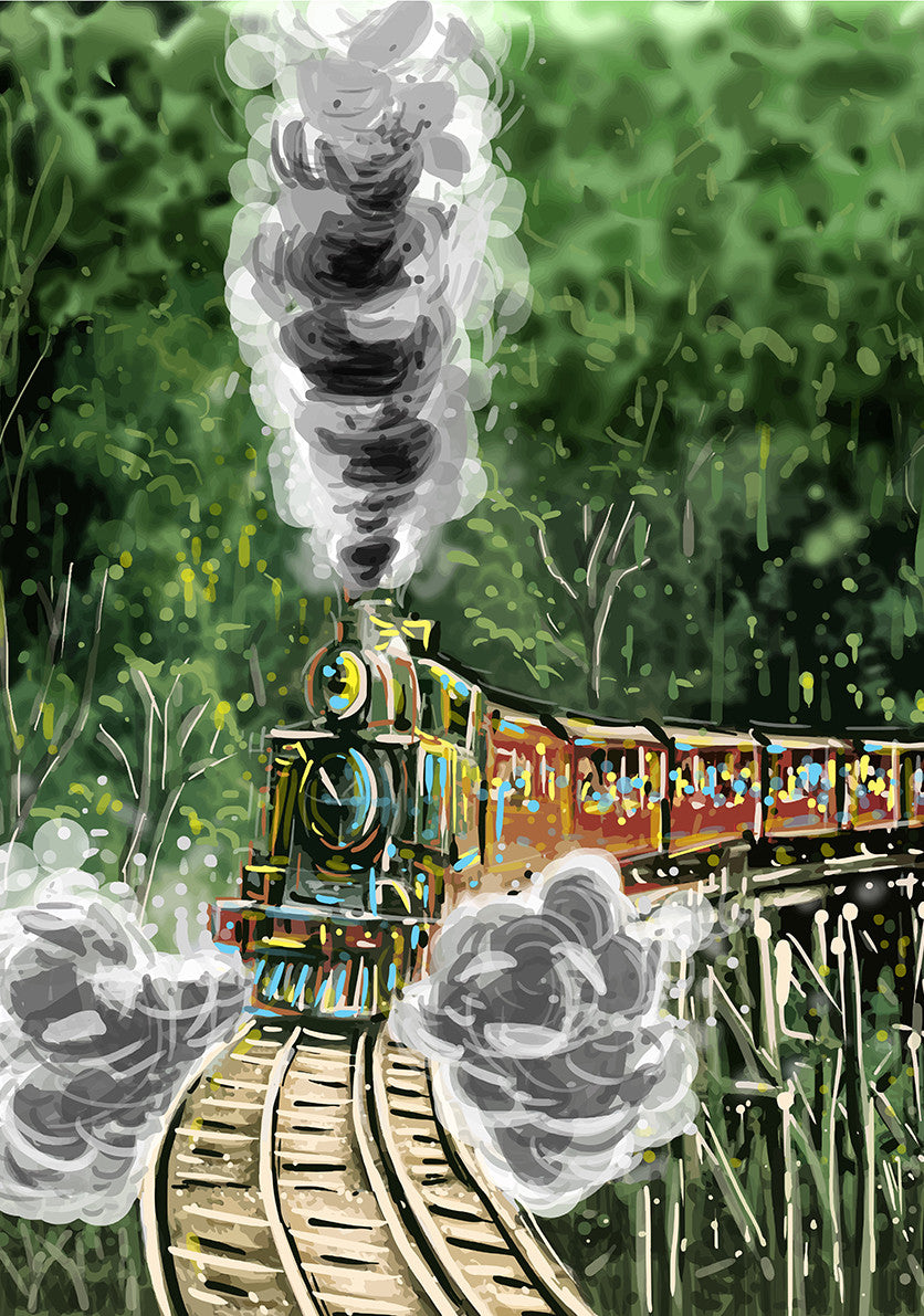 Print (Iconic) - Melbourne Puffing Billy (Portrait)
