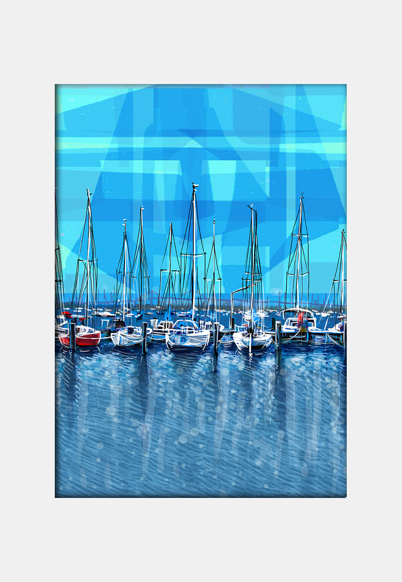 Print (Iconic) - Melbourne Williamstown Blue Sky