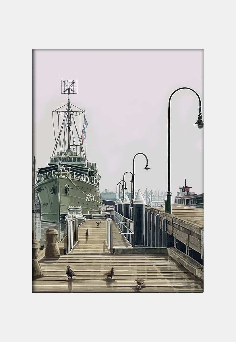 Print (Iconic) - Melbourne Williamstown Navy Ship