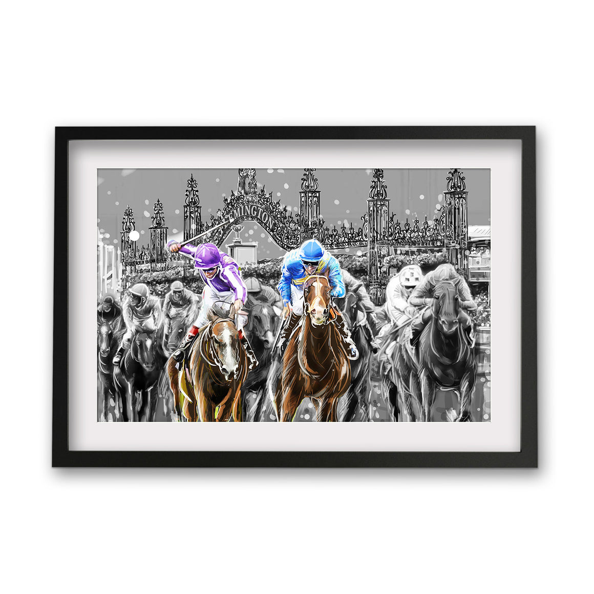 Print (Iconic) - Melbourne Flemington Race Landscape