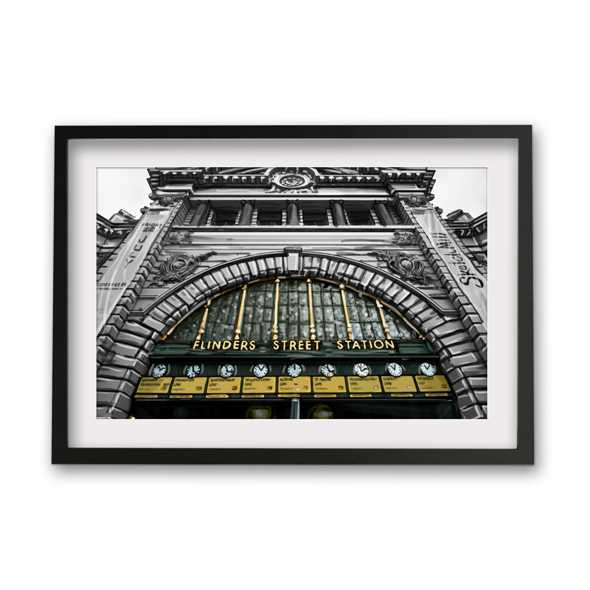 Print (Iconic) - Melbourne Flinders st Station Clocks