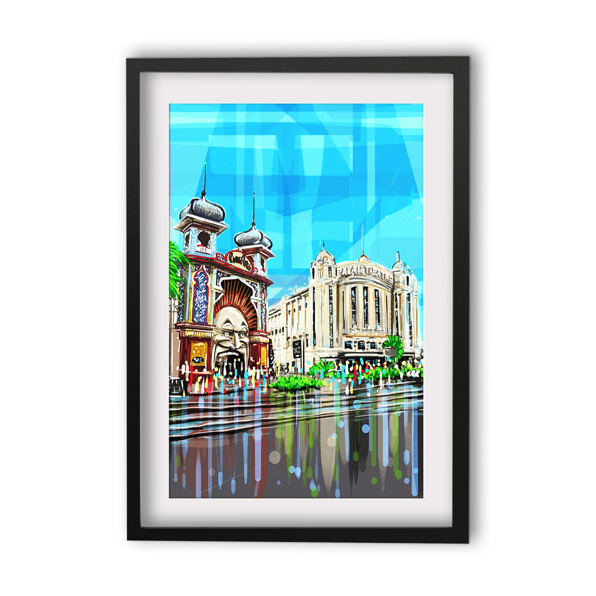 Print (Iconic) - Melbourne Luna Park and Palais
